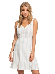 Roxy Sunday Dress - White & Blue