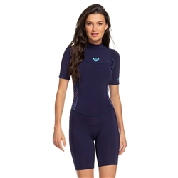 Roxy Syncro Shorty Wetsuit - Blue & Coral