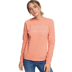 Roxy Eternally Yours Crew Terry Sweatshirt - Terra Cotta