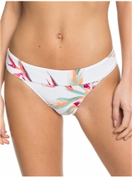 Roxy Lahaina Bay Modern Bikini Bottoms - Bright White Tropic Call