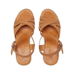 Roxy Eleanor Wedge Sandals - Tan