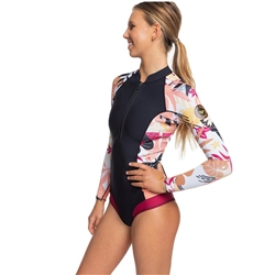 Roxy Popsurf 1.5mm Spring Suit - Black & Terra Cotta (2020)