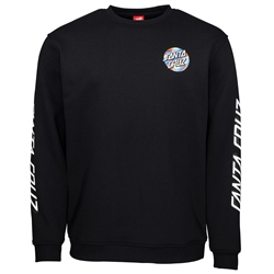 Santa Cruz Primary Dot Sweatshirt - Black