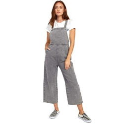 RVCA Crystal Dungarees - Grey Stripe