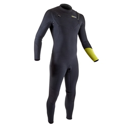 Gul 3/2mm Response FX Chest Zip Wetsuit - Black & Lime (2020)