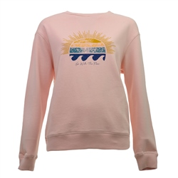 Born by the Sea Flow Crew Sweatshirt - Pink