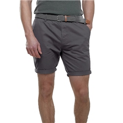 Broken Standard Belted Chino Short - Charcoal