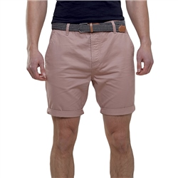 Broken Standard Belted Chino Short - Dusty Pink