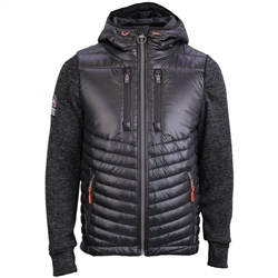 Superdry Storm Hybrid Zipped Hood - Black