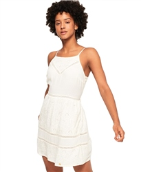 Superdry Lilah Schiffli Dress - White
