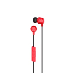 Skullcandy Jib Earbuds with Mic - Red & Black