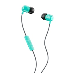 Skullcandy Jib Earbuds with Mic- Miami Teal & Black