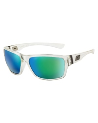 Dirty Dog Storm Polarised Sunglasses - Crystal & Green