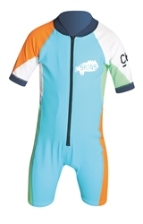 C-Skins Skins Sunsuit - Turquoise, Orange & Green