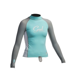 Gul Junior Floral Rash Vest - Glacier & White