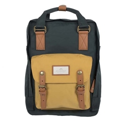 Doughnut Macaroon Backpack - Slate Green & Yellow