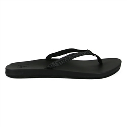 Reef Cushion Bounce Woven Flip Flop - Black