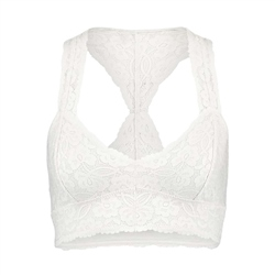 Free People Galloon Racer Bra - Ivory