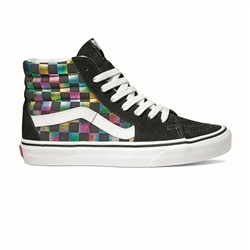 Vans Sk8 Hi Shoes - Iridescent Check
