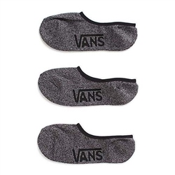 Vans No Show 3 Pack Socks - Black Heather