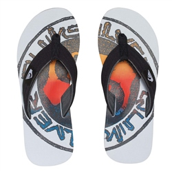Quiksilver Lay Back Flip Flop - White
