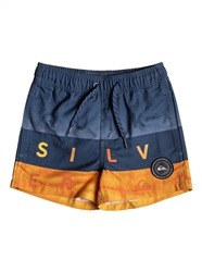 Quiksilver Word Block Volley Shorts - Blue