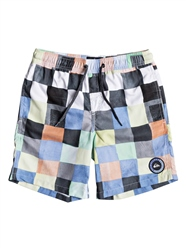 Quiksilver Resin Check Volley Shorts - Bright White