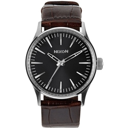 Nixon Sentry 38mm Watch - Brown Gator