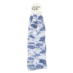 F & J Collection Clouds Scarf - Blue