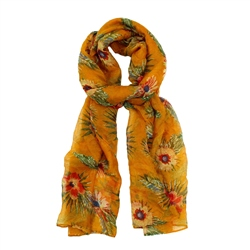 F & J Collection XB4200 Scarf - Yellow