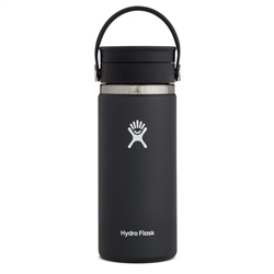 Hydro Flask Wide Mouth Coffee Flex Sip Lid 16oz Bottle - Black