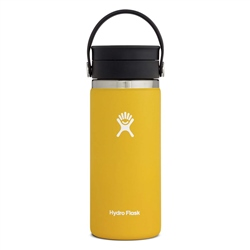 Hydro Flask Wide Mouth Coffee Flex Sip Lid 16oz Bottle - Sunflower