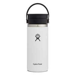 Hydro Flask Wide Mouth Coffee Flex Sip Lid 16oz Bottle - White