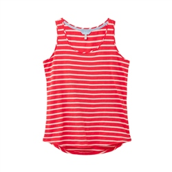 Joules Bo Stripe Vest - Red Pink Stripe
