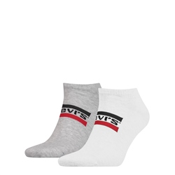 Levi's Low Cut Socks 2 Pack - White & Grey