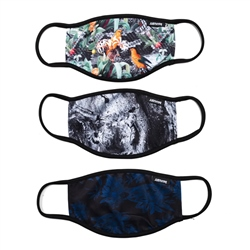 Hype Face Mask 3 Pack - Dark Nature