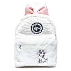 Hype Disney Marie Fur Mini Backpack - White