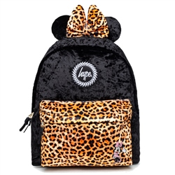 Hype Disney Minnie Leopard 18L Backpack - Black