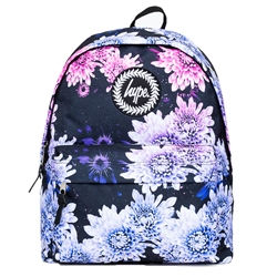Hype Floral Fade 18L Backpack - Blue & Purple