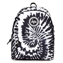 Hype Mono Tie Dye Backpack - Black & White