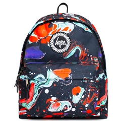 Hype Red Marble Backpack - Red & Blue