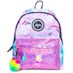 Hype Unicorn Holo 18L Backpack - Pink
