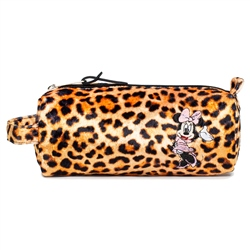 Hype Disney Minnie Leopard Pencil Case - Orange & Black