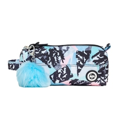 Hype Pastal Abstract Pencil Case - Blue