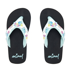 Animal Swish Upper AOP Flip Flop - Black