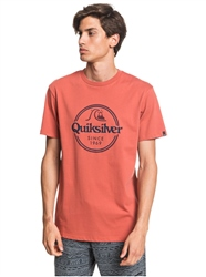 Quiksilver Words Remain T-Shirt - Redwood