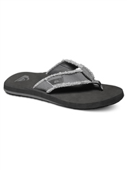 Quiksilver Monkey Abyss Flip Flop - Grey, Black & Brown