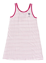 Roxy Leaves Movement Tank Dress - Snow White Funny Stripes