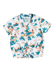 Roxy Ring Ring Tie Front Shirt - Snow White Honolulu