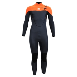 Alder Pyro Boys 3/2mm Chest Zip Wetsuit - Orange
